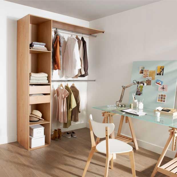 Dresser un dressing agence briques en stock - Castorama dressing sur mesure ...